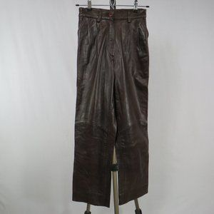 North Beach Brown Leather Pants